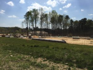 501 Pharmacy construction coming along at Briar Chapel in Chapel Hill, NC