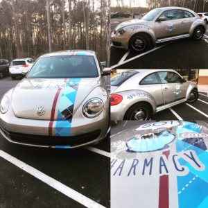 Keep your eyes open for the 501 Pharmacy VW Beetle around town delivering your prescriptions for free!