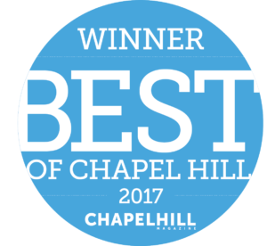 Thanks to everyone who voted for us in the 2017 Best of Chapel Hill awards in Chapel Hill Magazine!