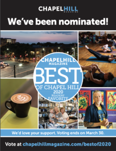 Vote for 501 Pharmacy for Best of Chapel Hill