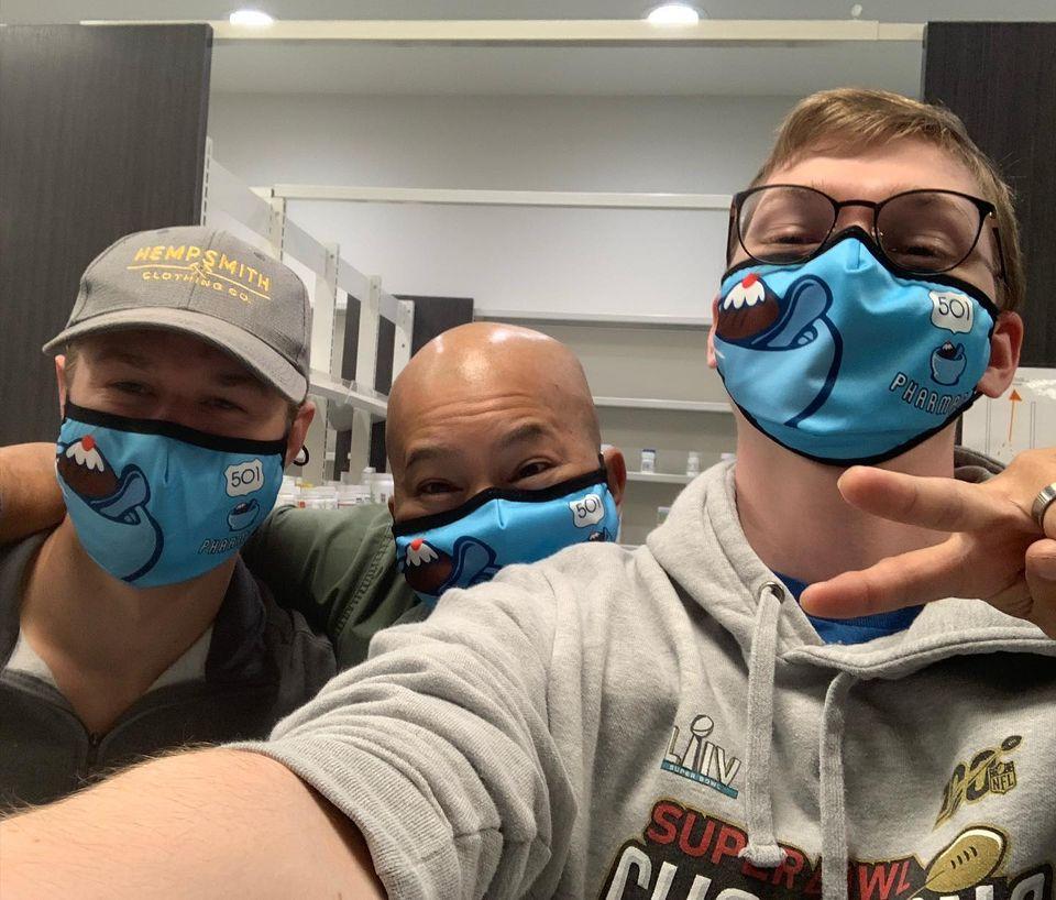 Custom 501 Pharmacy Masks